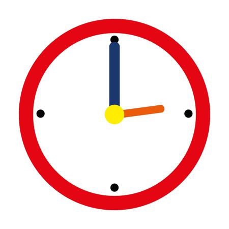 time clock watch ivon vector illustration design Ilustrace