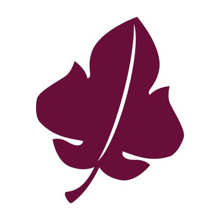 grape leaf isolated icon vector illustration design Ilustração