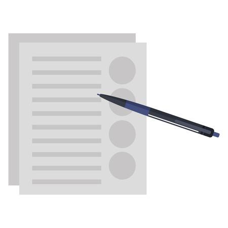 pencil write with documents vector illustration design Çizim