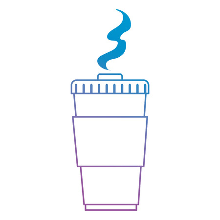 coffee plastic cup icon vector illustration design