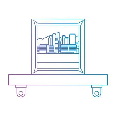 shelf with portrait icon vector illustration design