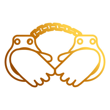 hands with handcuffs icon vector illustration design