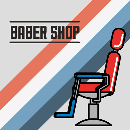 baber shop chair colors for gentlemans vector illustration