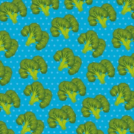 fresh broccoli pattern background vector illustration design Illustration