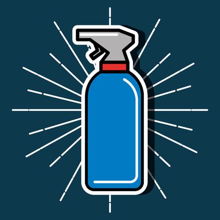 barber shop grunge style blue background spray water vector illustration