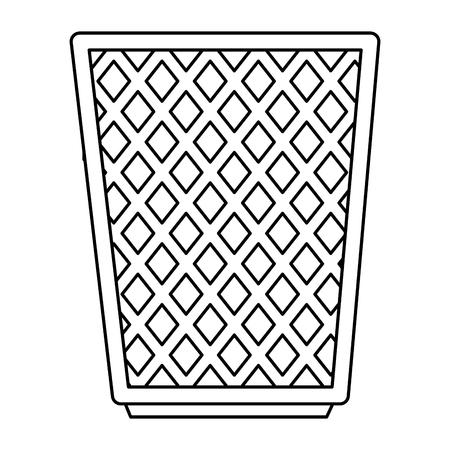 Büropapierbehälter Symbol Vektor-Illustration-design Vektorgrafik