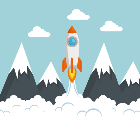 start up launcher rocket vector illustration design 일러스트