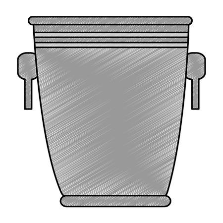 bucket liquor silhouette icon vector illustration design