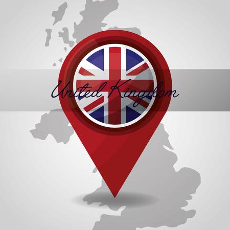 united kingdom map backgrond london location vector illustration