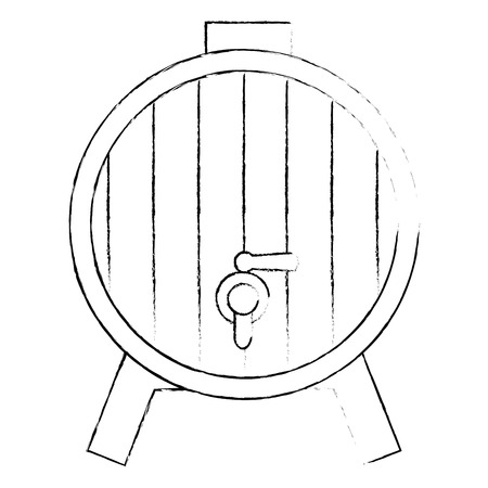 wine barrel isolated icon vector illustration design Ilustração