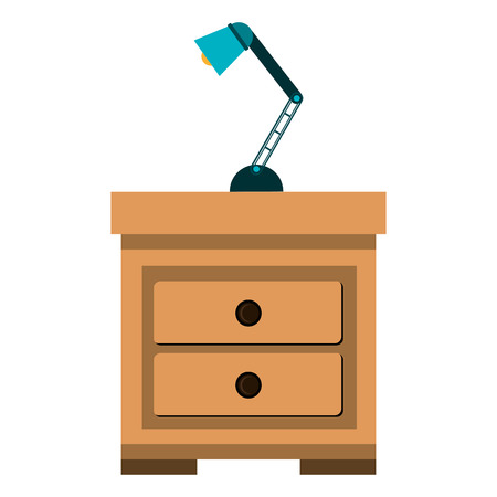 drawer with lamp icon vector illustration design