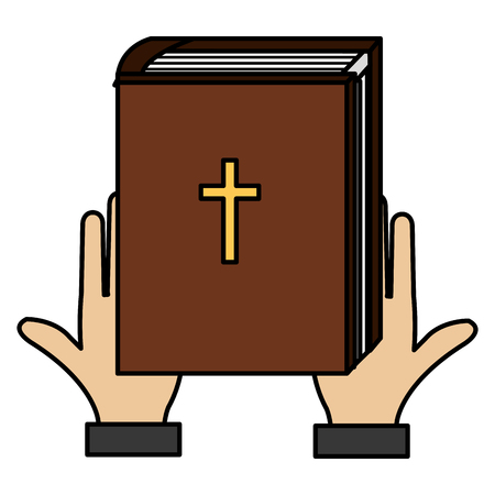 hands with holy bible vector illustration design 向量圖像