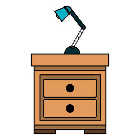 drawer with lamp icon vector illustration design Stock Vector - 114889647