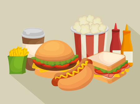 fast food restaurant menu vector illustration design
