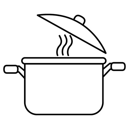 kitchen pot isolated icon vector illustration design 免版税图像