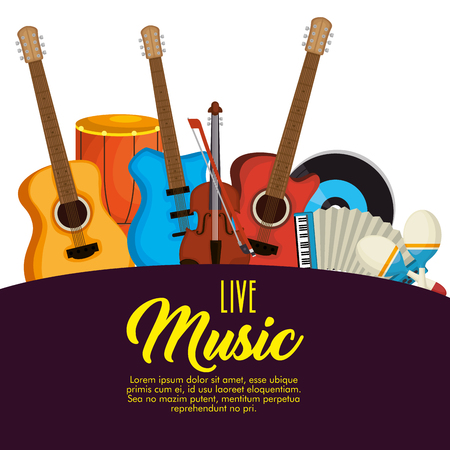 set musical instruments icons vector illustration design Ilustrace