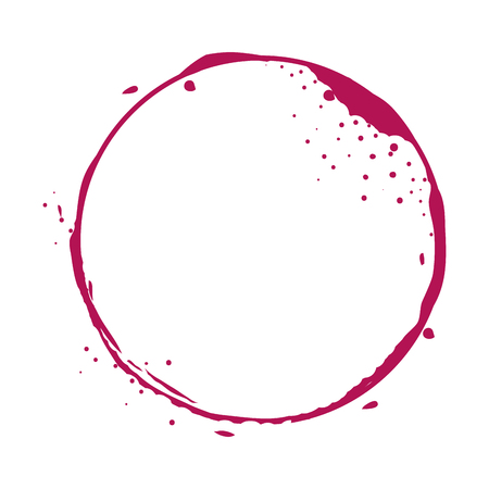 circular watermark paint wine vector illustration design Stock Photo