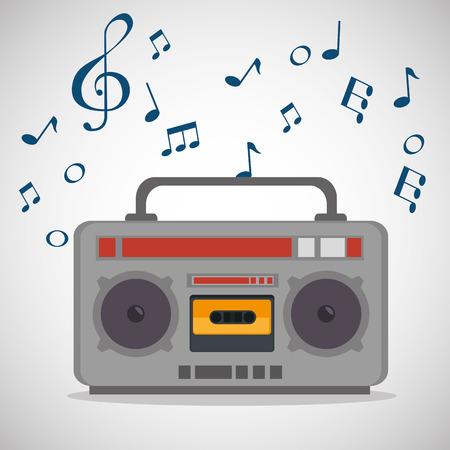 radio musical festival label vector illustration design