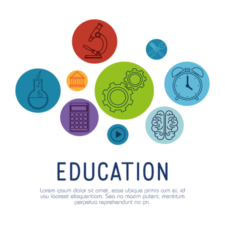 education learning set icons vector illustration design