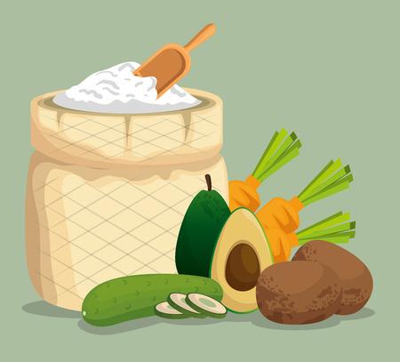 healthy food menu icons vector illustration design