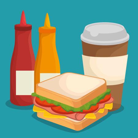 fast food restaurant menu vector illustration design Standard-Bild - 114876672
