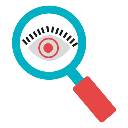 magnifying glass and eye vector illustration design