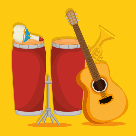 set musical instruments icons vector illustration design Stock Illustratie