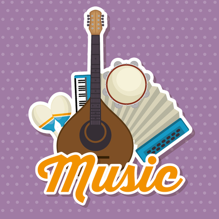 set musical instruments icons vector illustration design Illustration