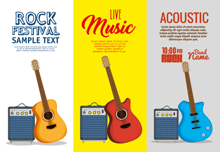 set musical instruments icons vector illustration design Çizim