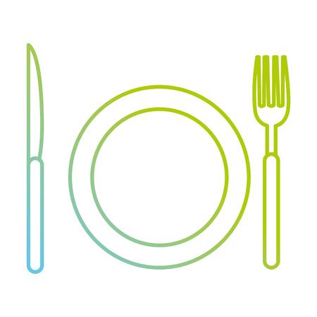 schotel met bestek iconen vector illustratie ontwerp