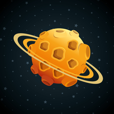 planet of the solar system scene vector illustration design