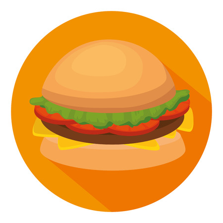 delicious burger isolated icon vector illustration design Zdjęcie Seryjne - 114808538