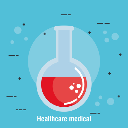 tube test healthcare medical icons vector illustration design