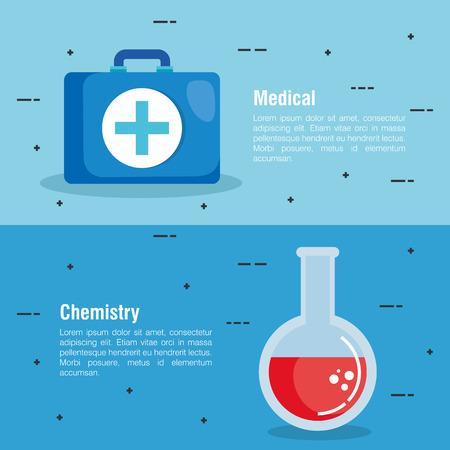 healthcare medical set icons vector illustration design Stock fotó