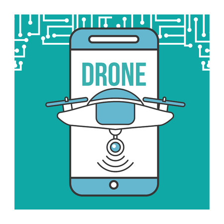 drone smartphone devices connection technology