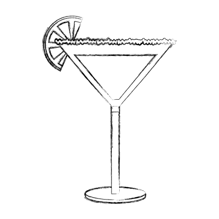 cocktail drink with fruit isolated icon vector illustration design