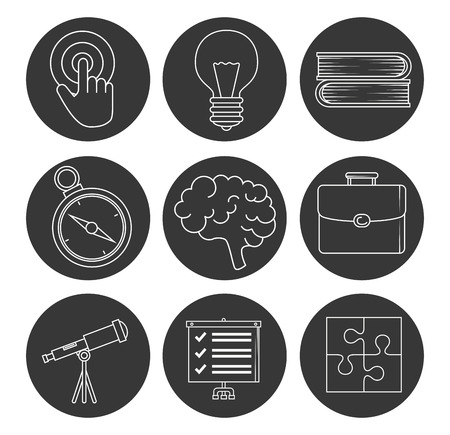 start up business set icons vector illustration design Stock Vector - 114844068