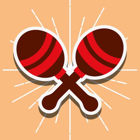jazz festival instruments maracas grunge style background vector illustration Illustration
