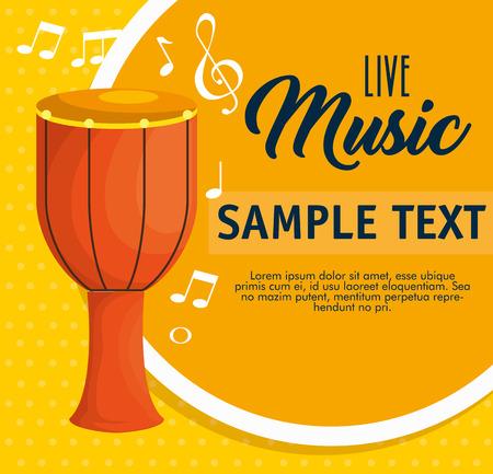 bongos musical instrument label vector illustration design Illustration