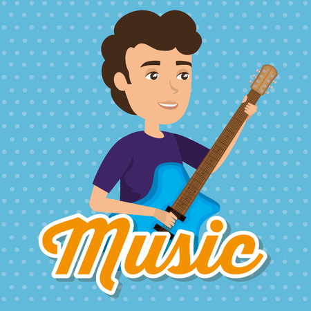 musician man in concert vector illustration design Stock Illustratie