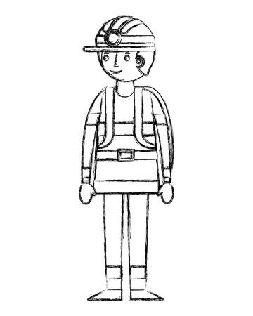 firefighter avatar character icon vector illustration design