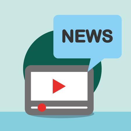 news communication notices videos social vector illustration Ilustração