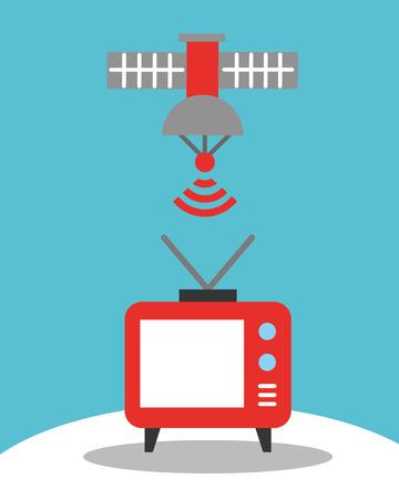 news communication  satellite  signal television vector illustration Ilustração