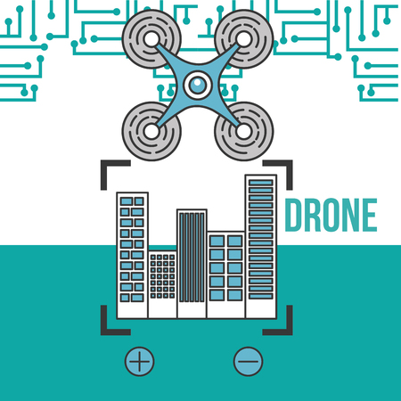 drone technology futuristic flying zoom city location