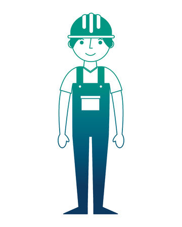 construction builder avatar character vector illustration design Stock Photo