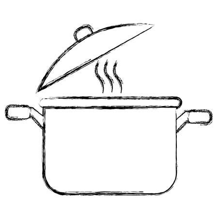 kitchen pot isolated icon vector illustration design Stock Illustratie