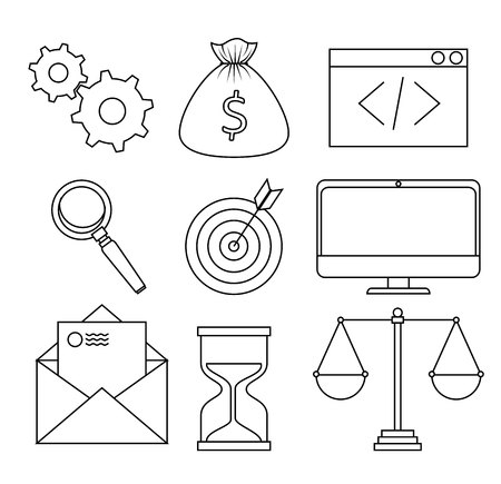 start up business set icons vector illustration design Stock Vector - 114876734