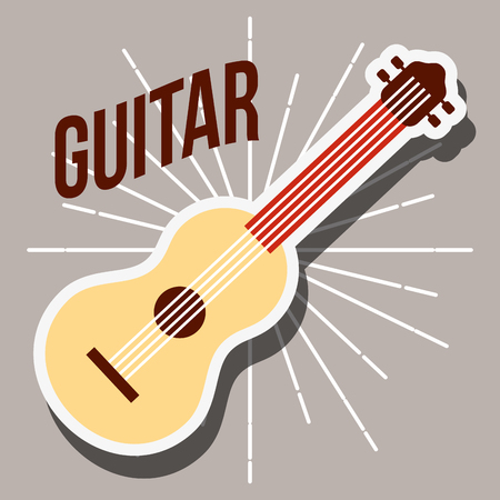 jazz festival instruments guitar music play vector illustration