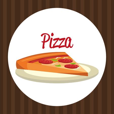 delicious italian pizza portion vector illustration design Imagens - 104951910