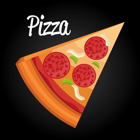 delicious italian pizza portion vector illustration design Imagens - 104951913
